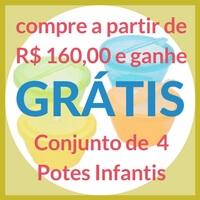 Promoção Conjunto 2 Potes Infantis Lolly
