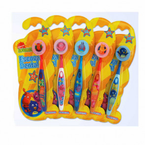 Escova Dental Infantil Com Capa Backyardgans 12 unidades