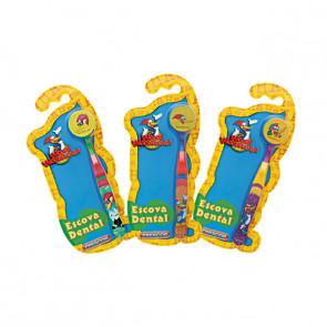 Escova Dental Infantil Com Capa PicaPau 12 unidades