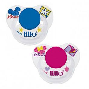 Chupeta Transparente Disney Silicone Orto T2 - Lillo