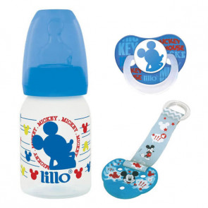Kit Mickey Mamadeira 120ml + Prendedor + Chupeta Disney - Lillo