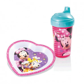 Kit: Copo 300ml + Prato Raso Minnie - MultiKids