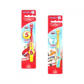 Kit 6 Escovas Dentais Infantil 2D Aviões