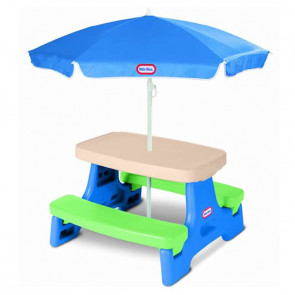 Mesa Picnic Guarda-Sol 4 Lugares - Little Tikes