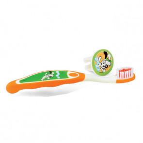 Escova Dental Infantil Com Capa Doki