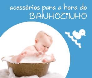 Produtos para o banho do bebê